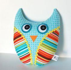 Softie Plush Owl Doll Handmade Stuffed Animal Pillow Children Baby Modern