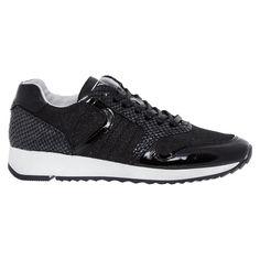 """Post Xchange"" Black Patent Leather Sneakers - TK Maxx"