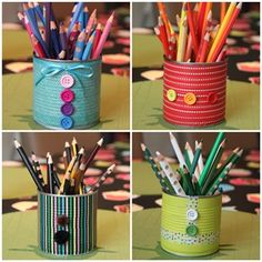 pencil holder with washi tape