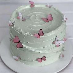 Butterfly Birthday Cakes, Pretty Birthday Cakes, Birthday Cakes For Women, Butterfly Cakes, My Birthday Cake, Pretty Cakes, Beautiful Cakes, Amazing Cakes, Mini Cakes