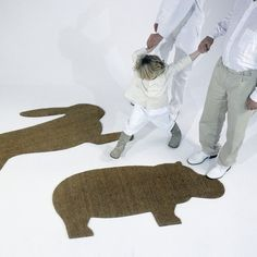 Hippo & Hare mat by Droog