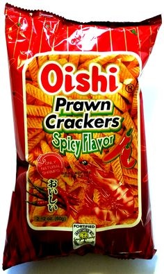 oishi-prawn-crackers-spicy-flavor-60g Prawn, Shrimp, Snack Recipes, Snacks, Pinoy Food, Crackers, Spicy, Chips, Snack Mix Recipes