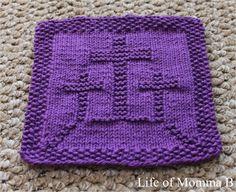 Easter Dishcloth – free knitting pattern