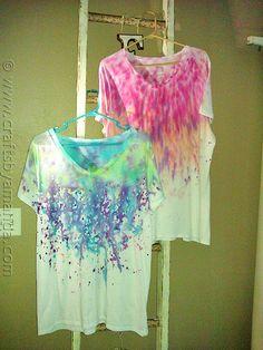 Drip Dye T-shirts | 28 Tie Dye DIYs That Won't Remind You Of Jerry Garcia