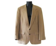 Men Camel Hair Blazer Camel Hair Jacket Bill by TheVilleVintage, $49.99