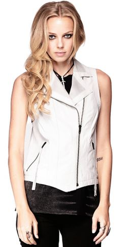 The perfect leather vest from Kill City on Emily!