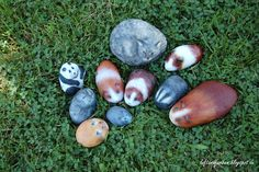 Painting Pebbles , Pattern Idea for Painting on Stones and Rocks, Animal Stones, Animal Shapes , animals, rocks, stones, realistic