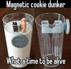 Magnetic cookie dunker What a time to be alive! Omg so so cool! Geek Gadgets, Gadgets And Gizmos, Cool Gadgets To Buy, Iphone Gadgets, Travel Gadgets, Inventions Sympas, Objet Wtf, Just In Case, Just For You
