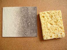 imprinting texture from sponge