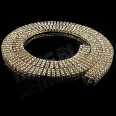 Awesome Great 14k Gold 4 ROW Crystal Simulated Clear Diamond Iced Out Chain Hip Hop Necklace 2017 2018 Check more at 24store.ml/...
