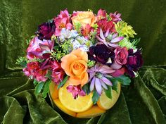 Orange Bowl Fresh Flowers :: AdamsAppleFlorist.com