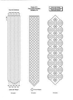 Resultado de imagen de patrones de bolsos de encaje de bolillos Chevron Crochet Patterns, Crochet Bookmark Pattern, Crochet Snowflake Pattern, Bobbin Lace Patterns, Crochet Bookmarks, Marque-pages Au Crochet, Motif Mandala Crochet, Bead Crochet, Crochet Stitches