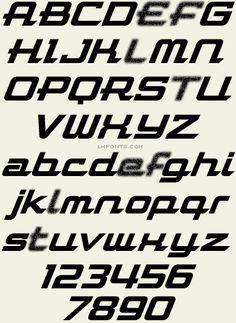 Letterhead Fonts LHF Flathead Racing