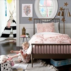 The Land of Nod   Girls Bedding: Pink Ombre Ruffled Bedding Set in Duvet  Covers   turquoise and pink room   Pinterest   Ruffle bedding, Bed sets and  Ombre