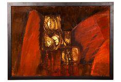 Midcentury Abstract Oil Painting on OneKingsLane.com