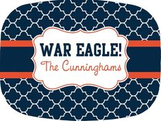 Why wait for football season? Show your spirit at your spring and summer picnics! Put out your Auburn War Eagle platter with your family name on it and enjoy the compliments! Auburn Tigers, Auburn Football, College Football, Sweet Home Alabama, Auburn University, Accent Colors, Background Patterns, Platter, Vinyl Decals