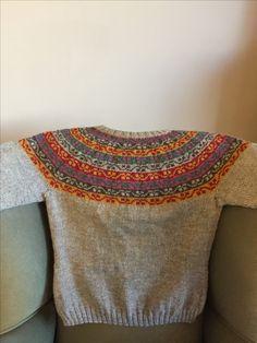 Miss Rachel's Yoke. Designed by Kate Davies. Buachaille Wool. Raised in Scotland.