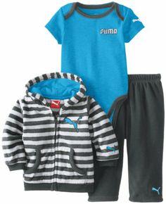 PUMA Baby-Boys Newborn 3 Piece Micro Fleece Set: Clothing
