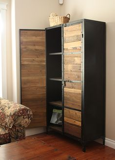 2011 - Reclaimed Wood Cabinet in Place 008