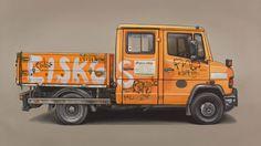 Kevin Cyr lleva diez años pintando automóviles viejos, muy usados, grafiteados, tagueados y roñosos. Sus pinturas son reconocibles por una estética realista, casi fotográfica, siempre sobre fondos neutros como si los vehículos estuvieran sacados de contexto y metidos en un estudio. Cyr creció en un pequeño pueblito al norte de Maine, en la frontera con […]