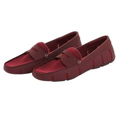 Swims : Shoes : Penny Loafer in Burgundy : John Anthony Mens Designer Clothes