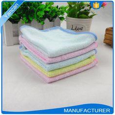 Plain Bamboo Fiber Square Ultra Soft Baby Drool Towel Bibs