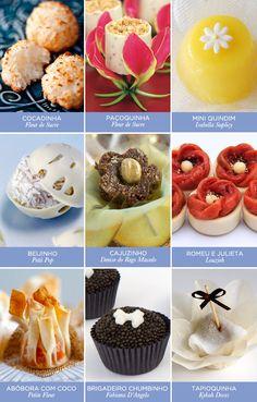 9 docinhos de casamento brasileiros - Constance Zahn | Casamentos Cooking On A Budget, Budget Meals, Sweet Party, Wedding Desserts, Chocolate Ganache, Muffin, Cupcakes, Tasty, Favorite Recipes