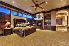 Wow, huge master bedroom! I think if ours was that big it would take a lot of self control to not fill it with furniture - but this looks awesome!