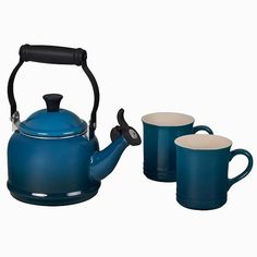 Le Creuset Cookware, Le Creuset Stoneware, Stoneware Mugs, Coffee In A Cone, Pour Over Coffee, Le Creuset Kettle, Stainless Steel Brackets, New Years Sales, Deep Teal