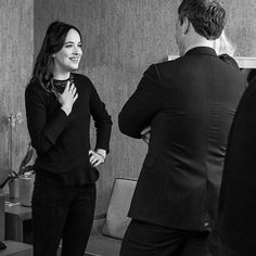 Dakota Johnson snaps on the Late Night with Seth Meyers in NYC - 1 February 2017 Click on for more Darker or US Press Tour info, TV Shows & Appearances lovefiftyshades.com | twitter | instagram | pinterest | youtube