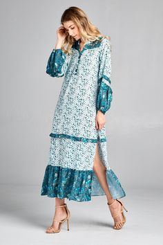 Racine Boho Print-Maxi Dress - Main Image