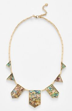 Free shipping and returns on House of Harlow 1960 Abalone Station Necklace at Nordstrom.com. A striking necklace features distinctive geometric stations inlaid with opalescent abalone.