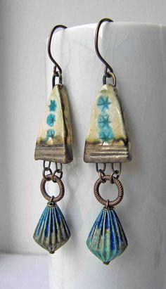 Arches Handmade Earrings Art Bead Earrings by somethingtodo, £18.50