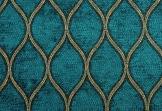 Woven area rug in teal and green peacock print by HouseofHenderson, $199.95