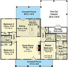 Traditional House Plan with Options - floor plan - Main Level