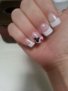 56 Ideas wedding nails french manicure polka dots for 2019 Disney Manicure, Manicure And Pedicure, Nails For Disney, Simple Disney Nails, Disney Acrylic Nails, Pedicures, French Nails, French Manicures, Red Nails
