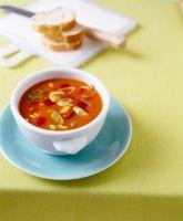 Biggest Loser turkey tomato soup... even Dan likes it!