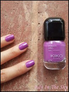 July In The Sky, mon blog Beauté, Mode et Lifestyle: Les vernis à ongles Power Pro Nail Lacquer de Kiko ! 18 - Iris