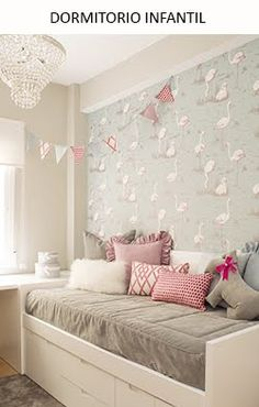 Un dormitorio infantil en rosa, gris y blanco · A girly pink, white and grey bedroom - - Dream Bedroom, Girls Bedroom, Bedroom Decor, Box Room Bedroom Ideas, Bunker Bed, Little Girl Rooms, New Room, Room Inspiration, Interior Design