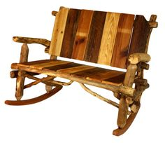 ON SALE Reclaimed Wood Rocking Chair Rustic Rocking By WoodzYShop, $476.00