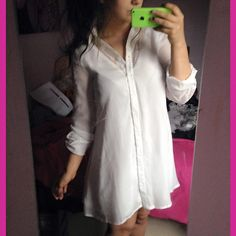 Bloggers LUV our white Shift Lace Dress! #dress #white #lace