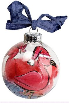 DecoArt® Skating Flamingo Ornament #ornaments #craft #christmas