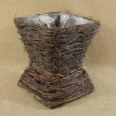Wiklina (Wicker) - Doniczka brzoza - kielich mała