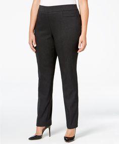 909cfe70878 JM Collection Plus Size Pull-On Slim-Leg Pants
