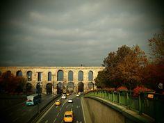 Valens Aqueduct at Fatih in Istanbul
