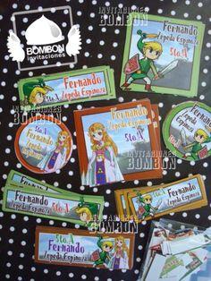 #Link #Zelda  #BAck to #School #Personalized #Label #Sticker ¡Everybody ready! https://www.facebook.com/invitaciones.bombon