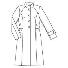 Пальто - выкройка № 116 из журнала 11/2008 Burda – выкройки пальто на Burdastyle.ru