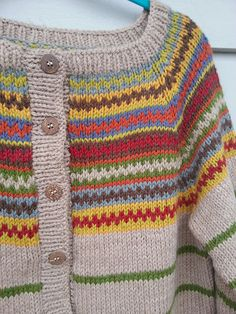Ravelry: Rigmor's Retrojakke Hobbies And Crafts, Diy And Crafts, Fair Isles, Cardigans, Sweaters, Knitting For Kids, Ravelry, Knit Crochet, Knitting Patterns