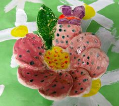 Cassie Stephens: In the Art Room: Ceramic Flowers with Third Grade