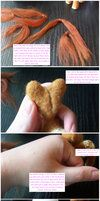 Tutorial: Rooting hair in needle felted figures by ~SnowFox102 on deviantART